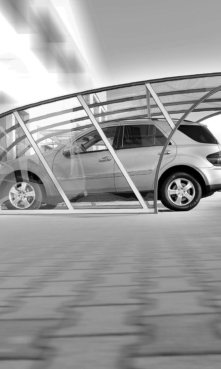 Carports Aluminium & Polycarbonat VÖROKA