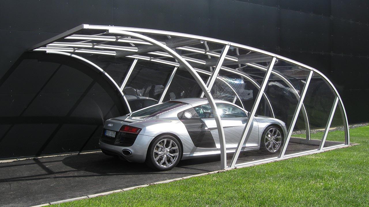 Glasklarer Carport in modernem Design VÖROKA Serie I