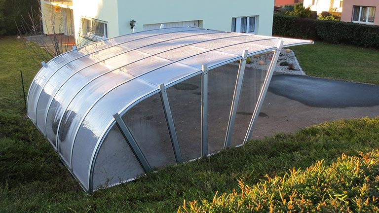 Double Carport glass VÖROKA Series III
