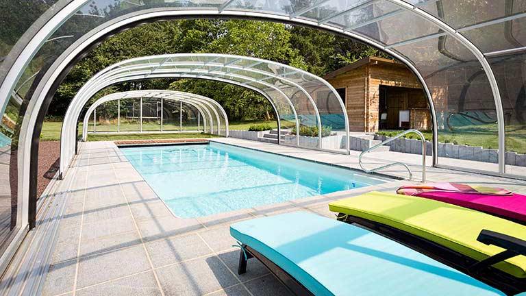 Pool covers / pool roofings in standing height VÖROKA