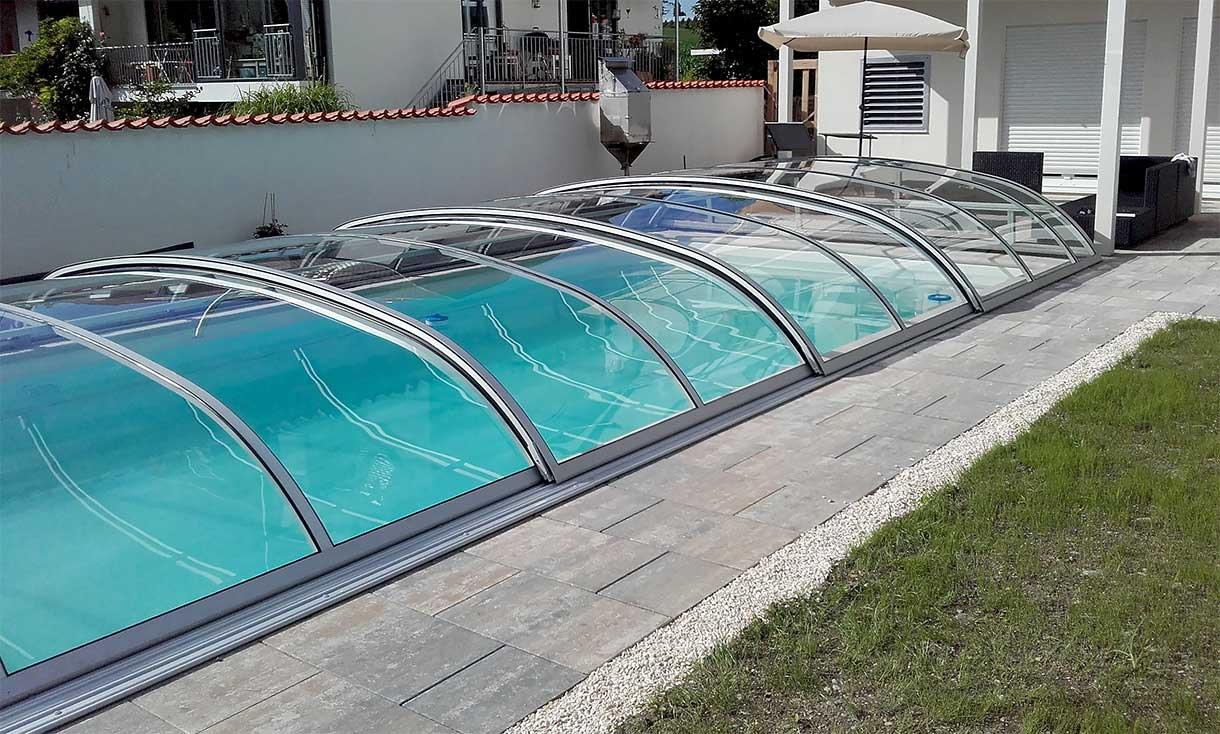 Pool canopy / pool cover crystal clear VÖROKA