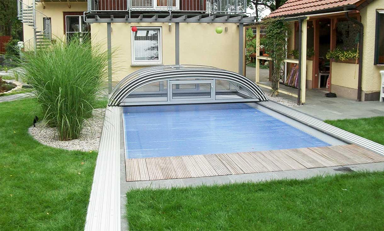 Flat pool canopy / pool cover VÖROKA FLAIR