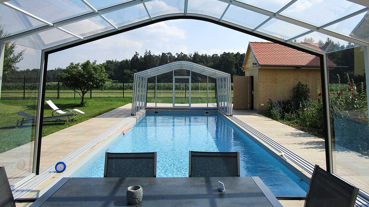 High pool hall / pool roofing VÖROKA CARAT Nostalgia