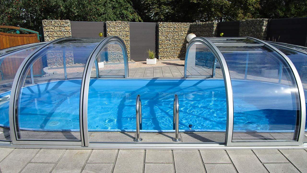 Pool hall / pool roofing oval & sliding VÖROKA