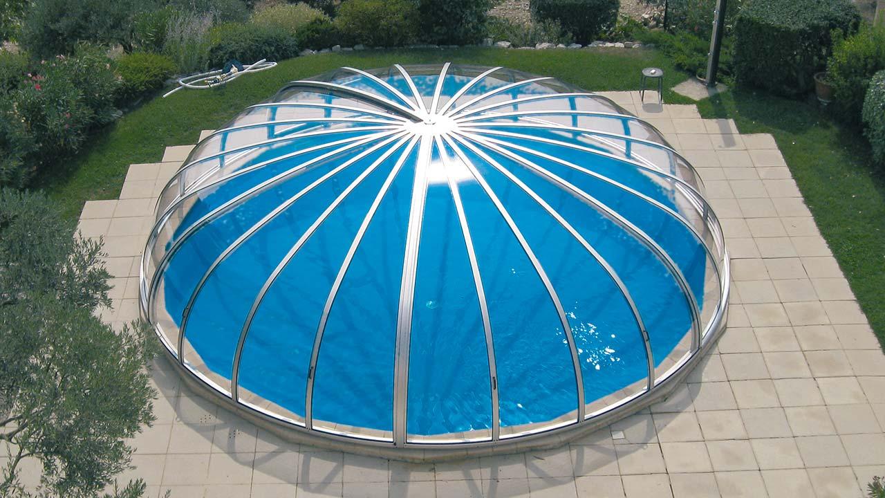 Poolhalle / Pool-Überdachung für Rund-Pools VÖROKA