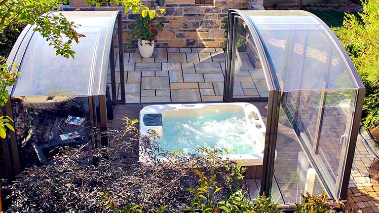 Whirlpool enclosure / Jacuzzi enclosure sliding VÖROKA
