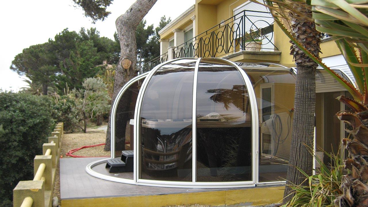Spa-Überdachung / Whirlpool-Überdachung aufschiebbar VÖROKA SUBLIM