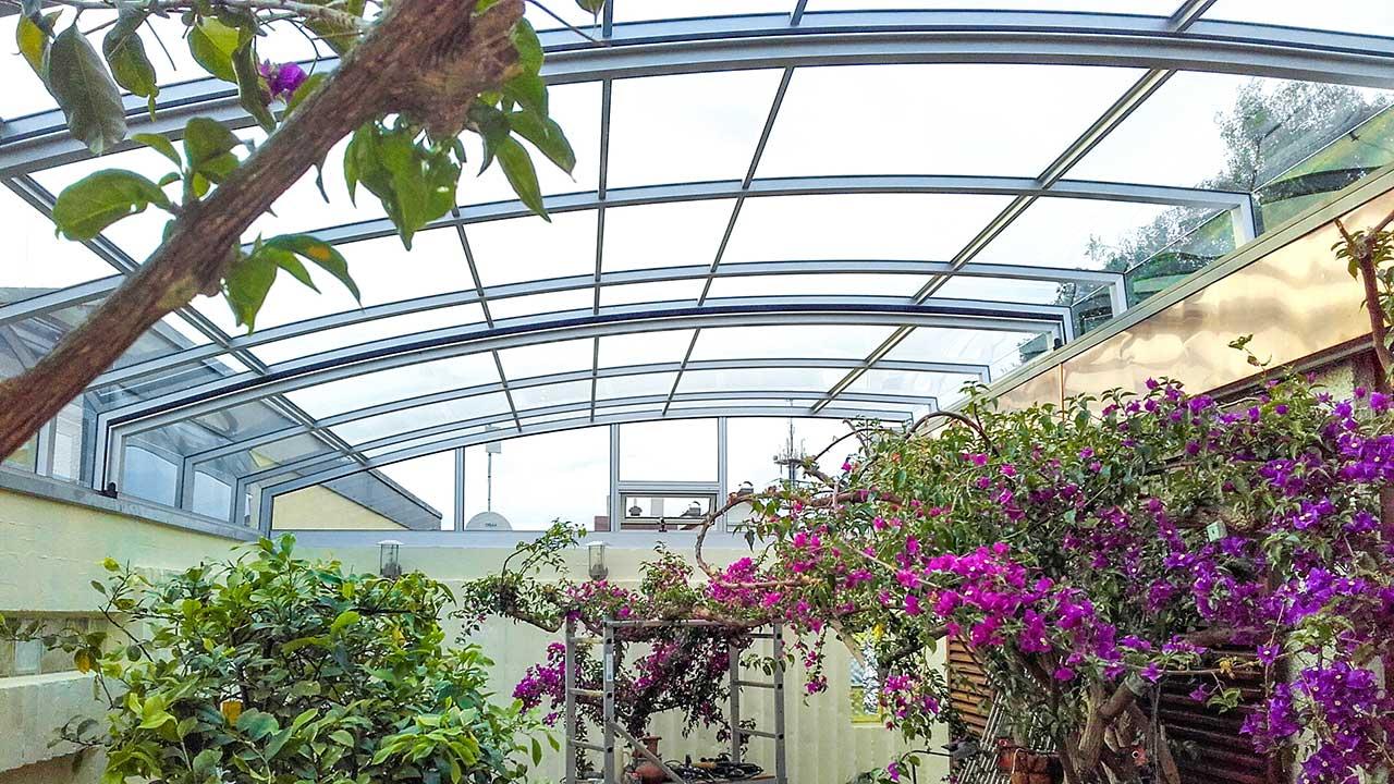 Terrace canopies / terrace roof made to measure VÖROKA