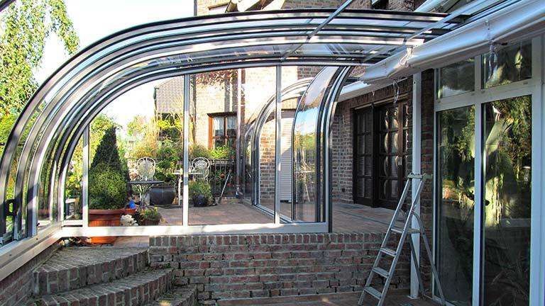 Terrassen-Überdachung / Terrassen-Dach aufschiebbar VÖROKA