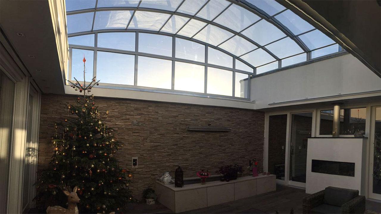 Courtyard roofing / Atrium roof VÖROKA