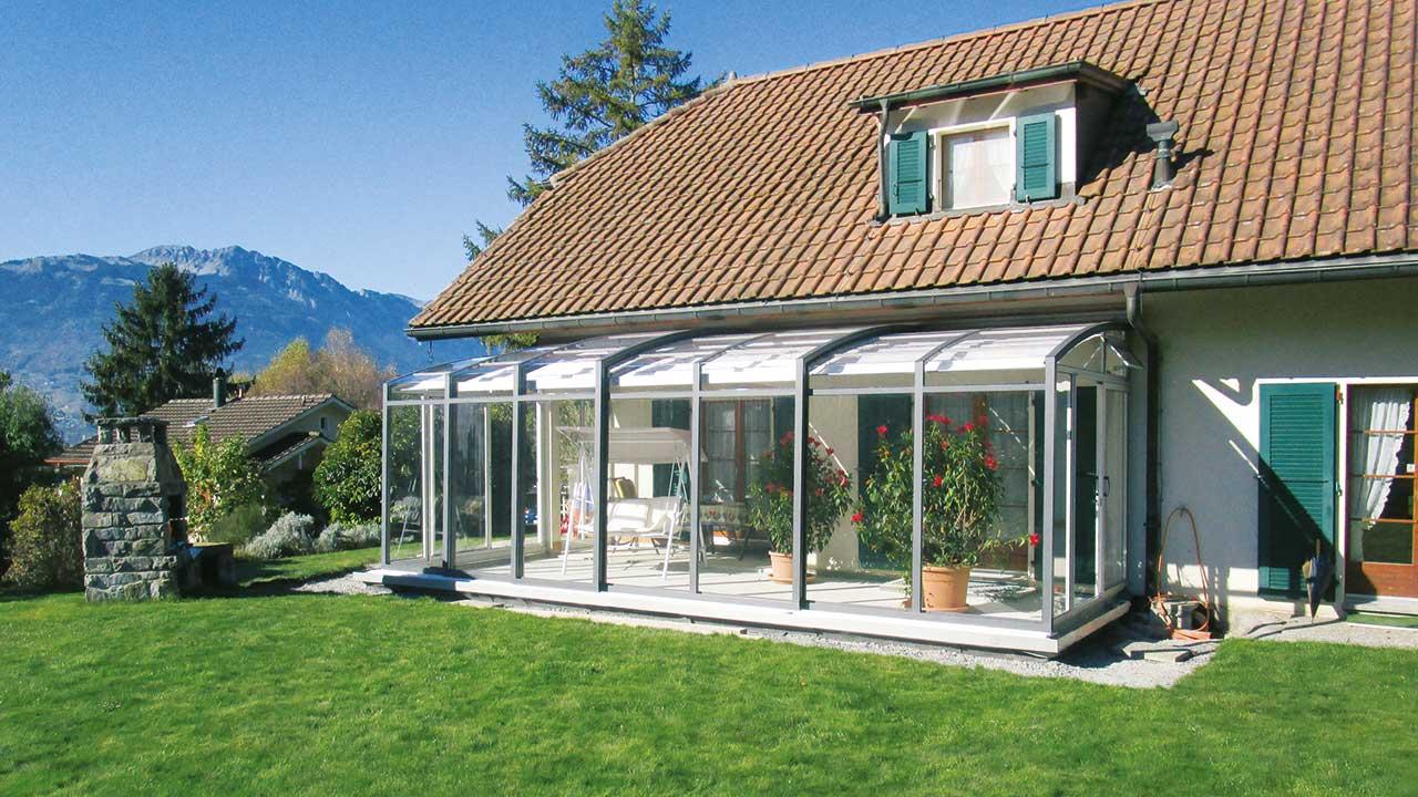Aufschiebbare Terrassen-Überdachung vom Marktführer VÖROKA